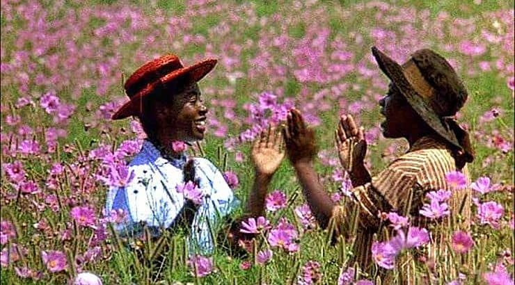 A classic black film, the Color Purple was released in the '80s