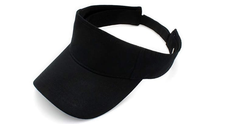 Sun visors are an option for natural women who prefer to wear their hair out.