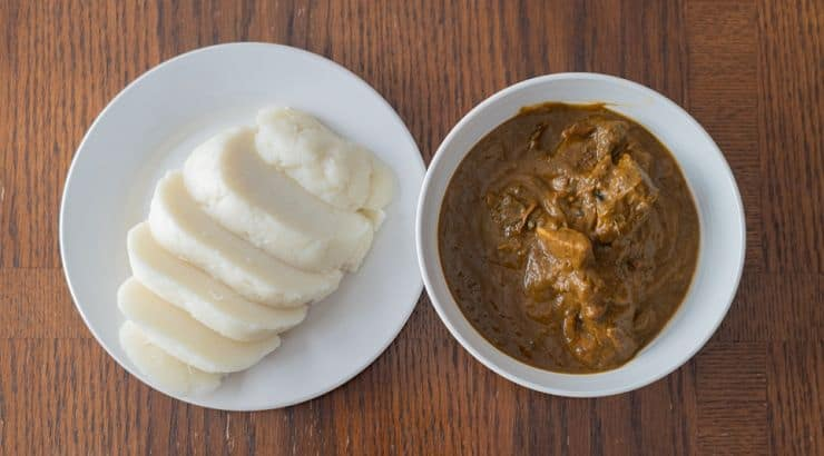 Banga soup is prepared from palm fruits and is another popular Nigerian soup.