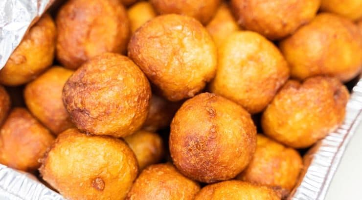 Puff puff is a sweet treat similar to French beignets.