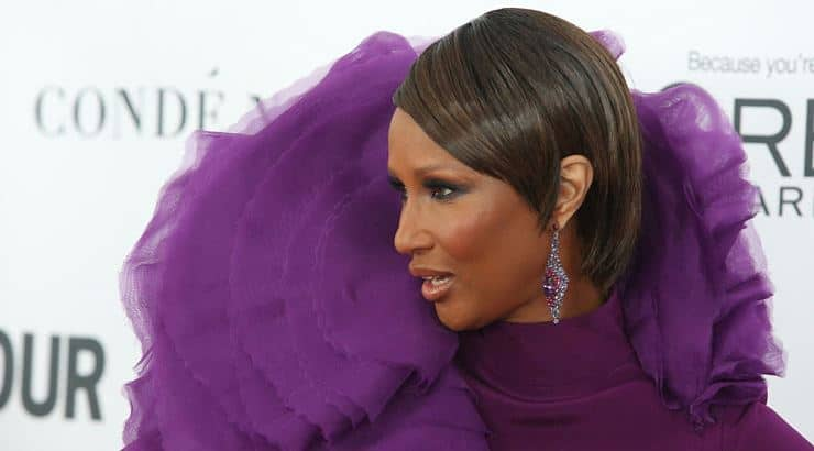 Model Iman went to the University of Nairobi where she studied political science.