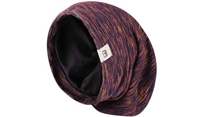 Satin head wraps are great to use because the material doesn't cause friction and breakage.