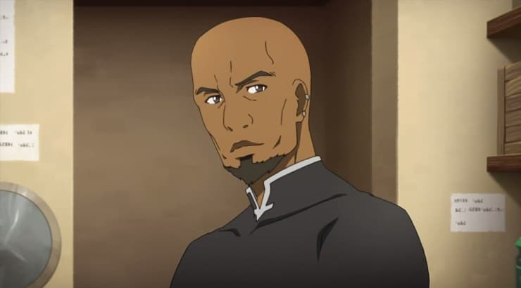 Andrew Gilbert Mills is a black anime character in