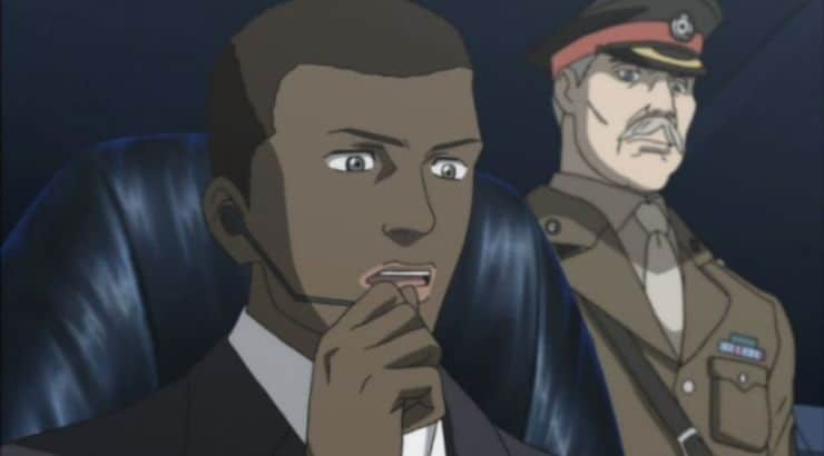 James Ironside is a black anime character in the series