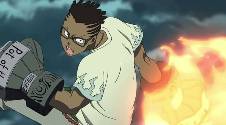 """Kilik Rung is a black character from """"Soul Eater"""" who has dark skin and dreadlocks."""