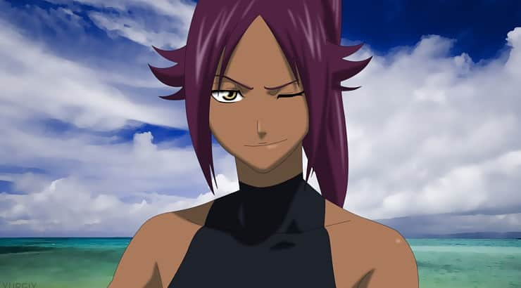 """Yoruichi appears as a protagonist in the popular anime series """"Bleach."""""""