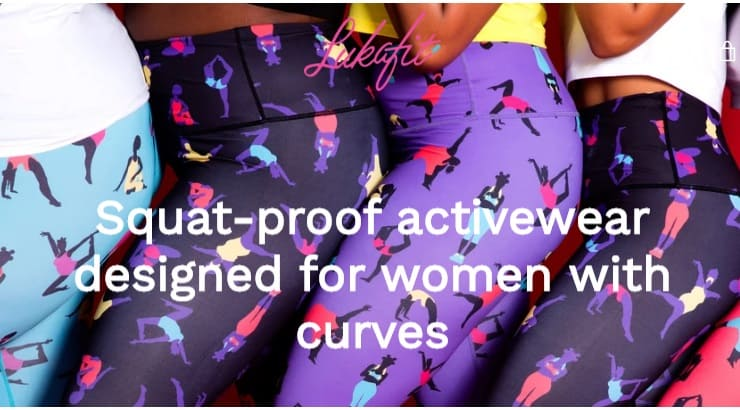 Lukafit is a black-owned brand that makes athletic clothes for plus size women.