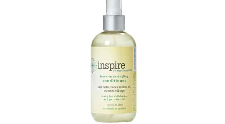 INSPIRE leave-in conditioner contains Shea butter and honey to help detangle natural hair.
