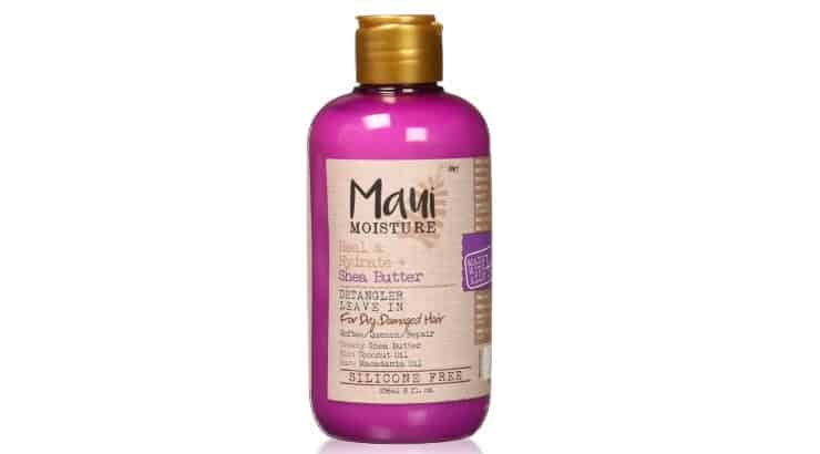 Maui Moisture's detangling product has essential oils which help soften hair and ease tangles.
