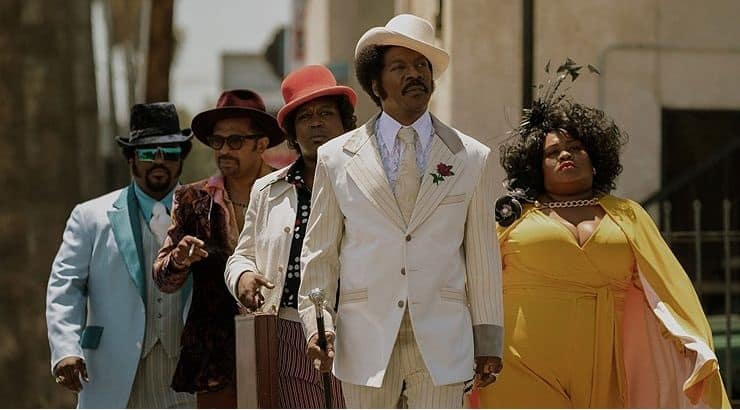 Eddie Murphy stars in the film Dolemite Is My Name based on the real-life comedian of Rudy Ray Moore.