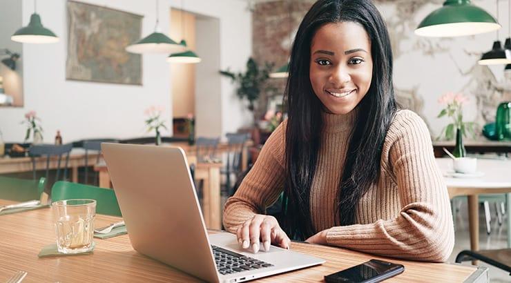 Black Girl On Her Laptop