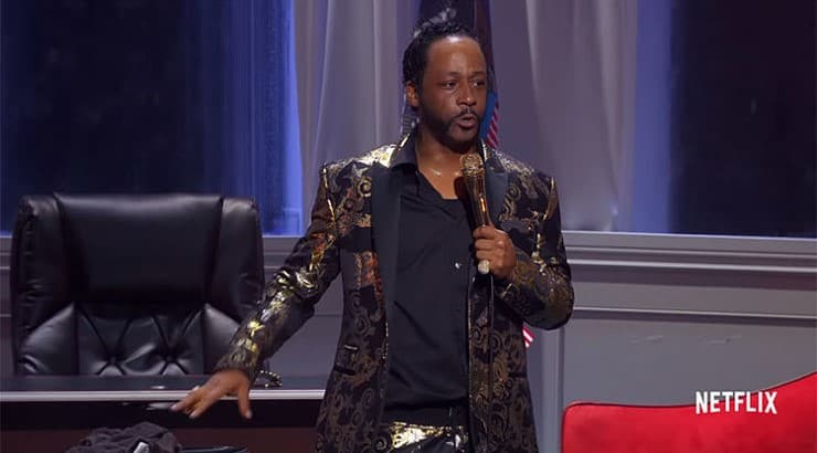"Katt Williams tackles politics in his Netflix stand up special ""Great America."""
