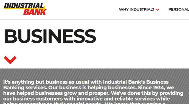 Industrial Bank is a black-owned bank on the East Coast in the D.C., Maryland, and Virginia area.