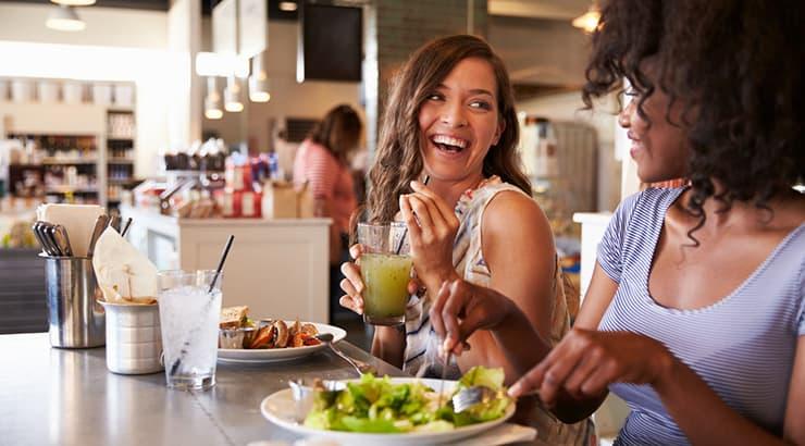 Two Women Having Lunch