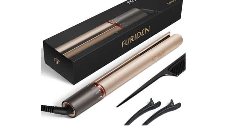 The Furiden 2-in-1 straightener is a dual tool that can help straighten and curl hair.