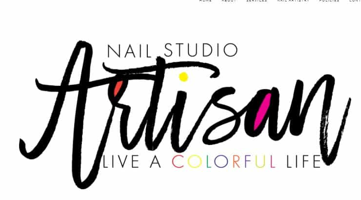 Artisan Nail Studio is a Charlotte-based nail salon with a specialty in holographic and chrome nails.