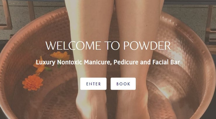 Powder Beauty Co is a Los Angeles based nail salon that offers quick on the go manicures to long, pampering pedicures.