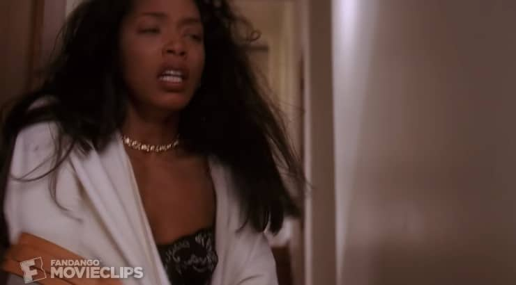 "Angela Bassett stars in the 1995 film ""Waiting to Exhale"" as Bernadine Harris."