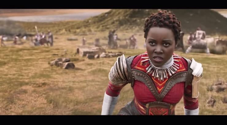 "Lupita Nyong'o starred as Nakia in the Marvel film, ""Black Panther."""