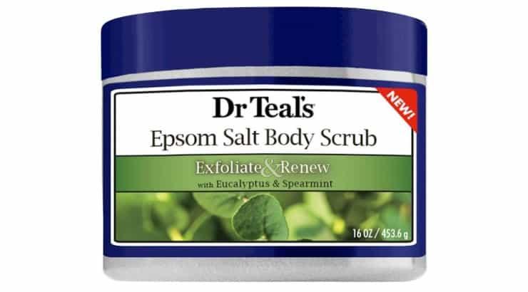 Dr. Teal's Epsom Salt Body Scrub has claims of renewing the body through exfoliating.