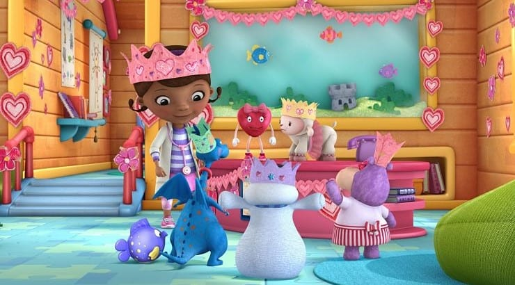 Doc McStuffins follows a young African-American girl who plays doctor to her toys.