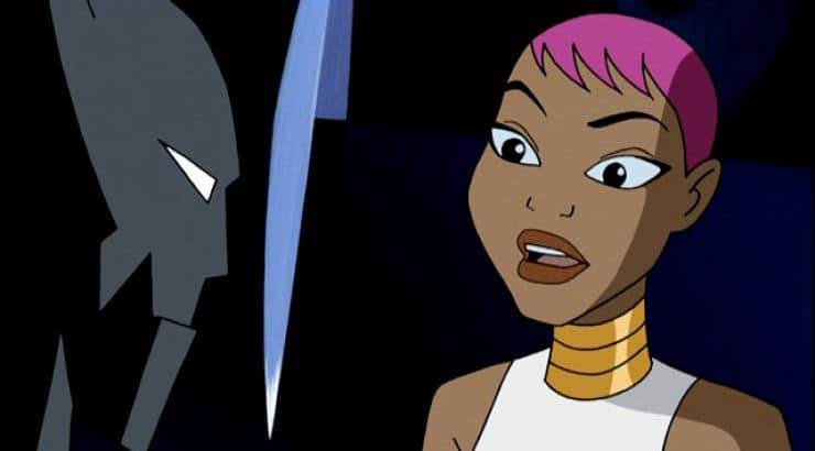 Maxine Gibson is a tech genius who stars in the Batman animated series.