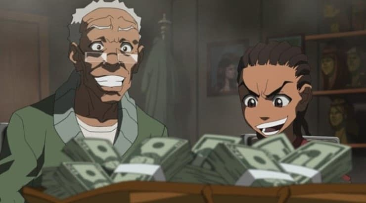 "Robert Freeman is a character on ""The Boondocks"" who is Riley and Huey's legal guardian."
