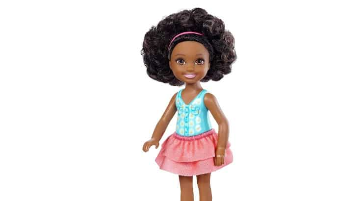 Barbie has numerous black dolls, one of them being the Chelsea Flower Doll.