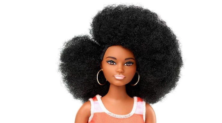 Barbie's Fashionista Doll is one of the few black dolls with kinky hair.