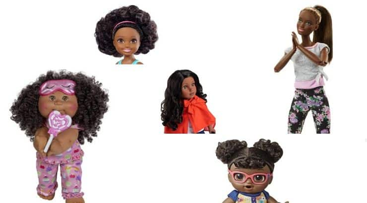 There are numerous doll products on the market that correctly incorporate black features.