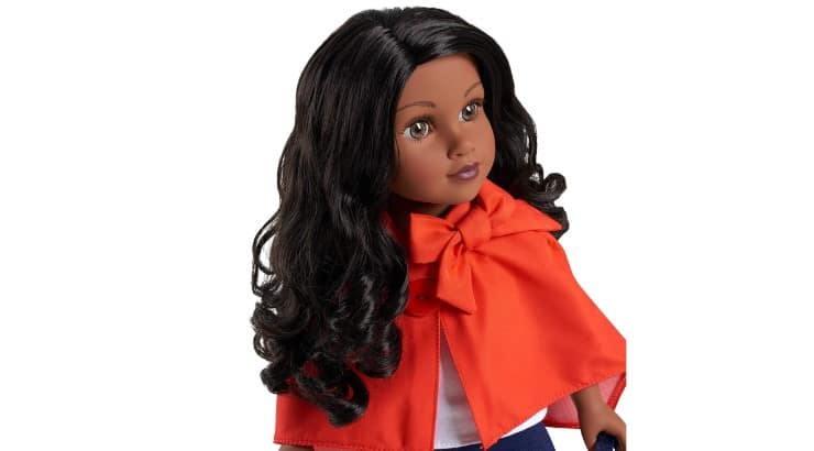 The Journey Girls Chavonne Doll is an black doll with long black hair.