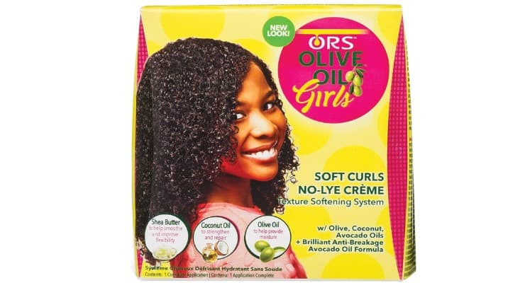 The ORS Soft Curls Texturizer contains olive oil, Shea butter, and coconut oil.