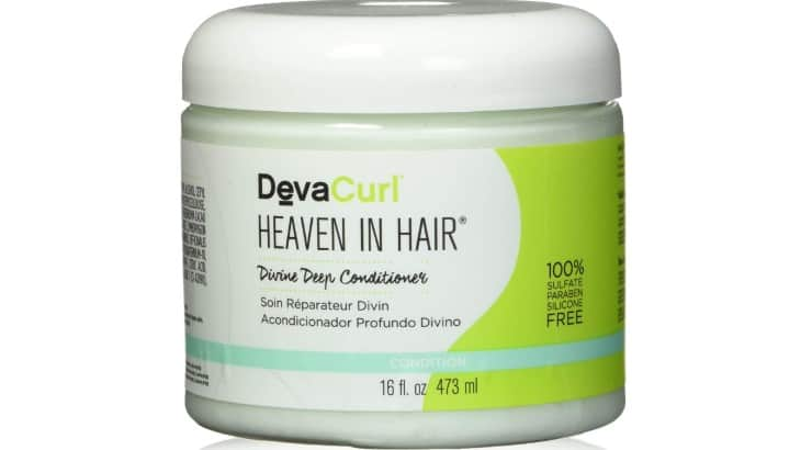 DevaCurl Deep Conditioner protein treatment contains cacao seed butter, murumuru butter, and cupuacu butter.