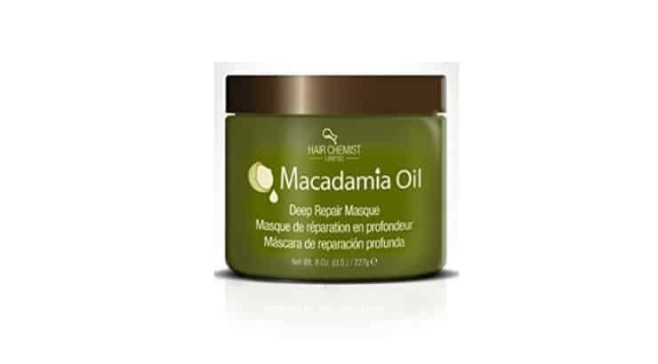 Hair Chemist Macadamia Oil Deep Repair Masque helps balance protein in hair.