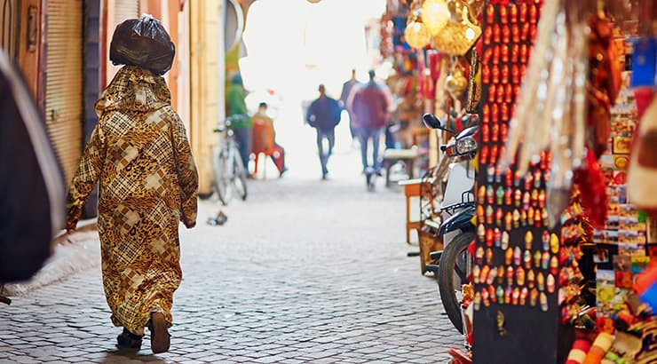 Black Woman In The Gold Markets OfMarrakesh