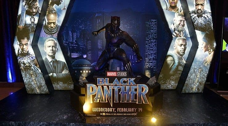 Black Panther is a popular black superhero from the Marvel Cinematic Universe films.