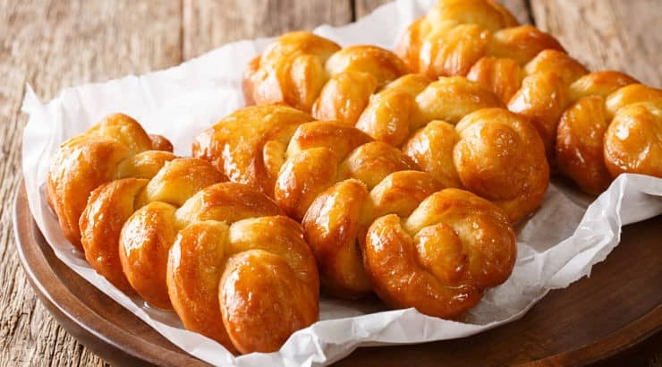 Koeksister is a South African dessert that's drenched in sweet syrup.