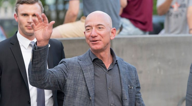 Jeff Bezos, the founder, CEO, and president of Amazon has a net worth of over $150 billion.