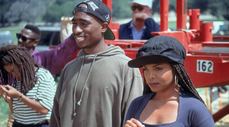Poetic Justice is a romantic drama starring Janet Jackson and Tupac Shakur.