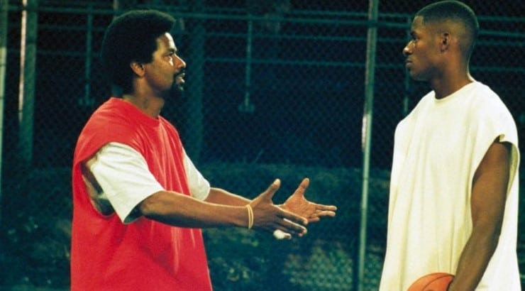 He Got Game is the sports drama starring Denzel Washington with basketball player Ray Allen starring as his son.