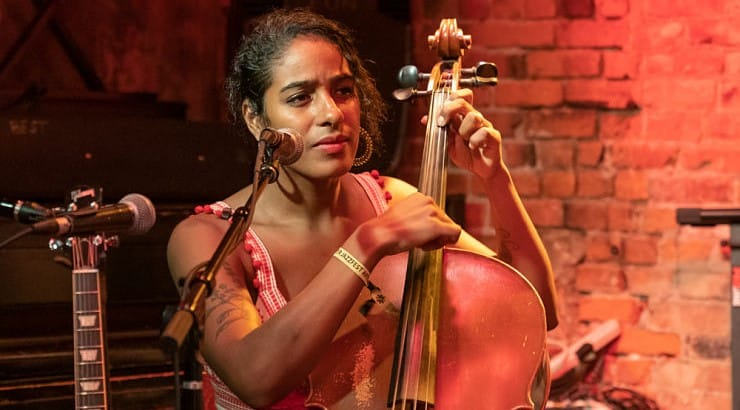 Leyla McCalla was a former member of Carolina Chocolate Drops before leaving the group to start a solo career.