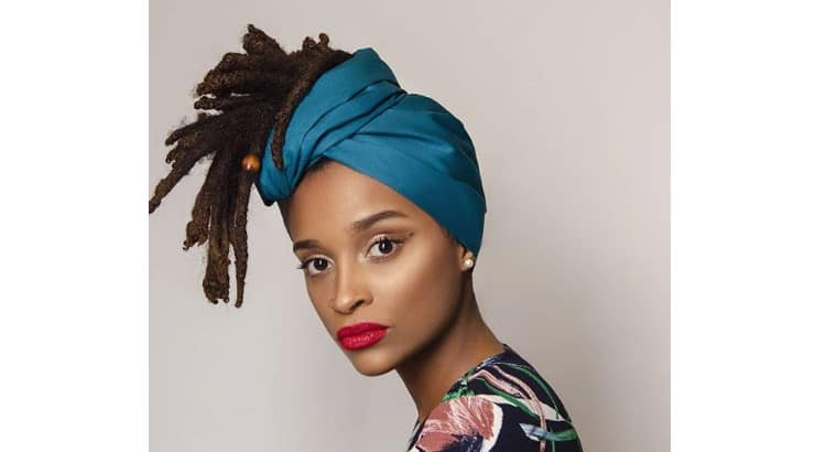 Headwraps are a way to add style to a hairdo, but they also help protect or hide the roots.