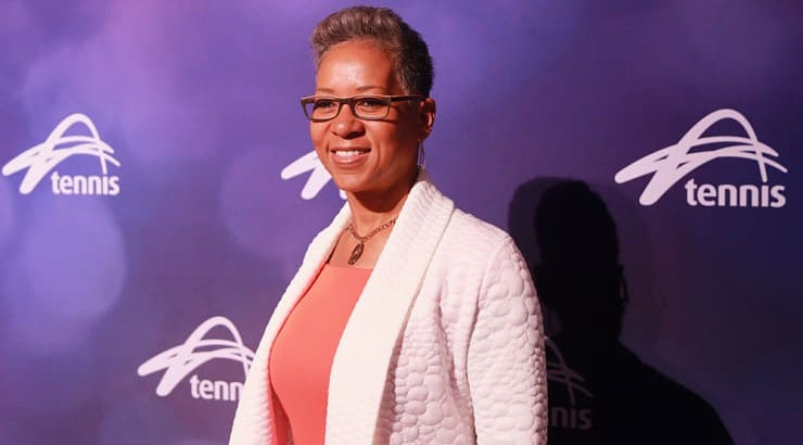 Katrina Adams was a professional tennis player before transitioning to a commentator and then the President, Chairman, and CEO of the United States Tennis Association.