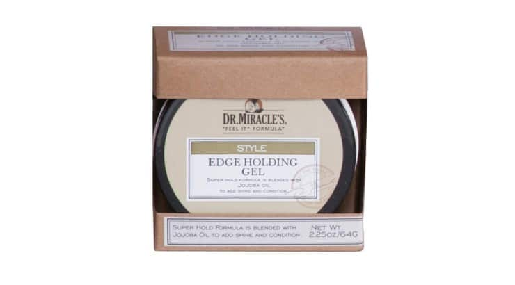Dr. Miracle's Edge Holding Gel contains jojoba oil which helps condition hair and add shine.