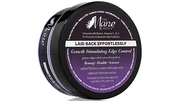 The Mane Choice Growth Stimulating Edge Control contains biotin as well as Vitamins C, D, and E.