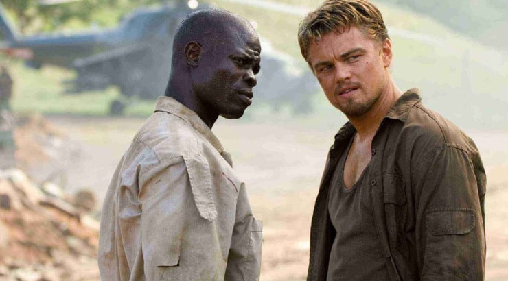 Blood Diamond is an action thriller starring Leonardo DiCaprio and Djimon Hounsou.