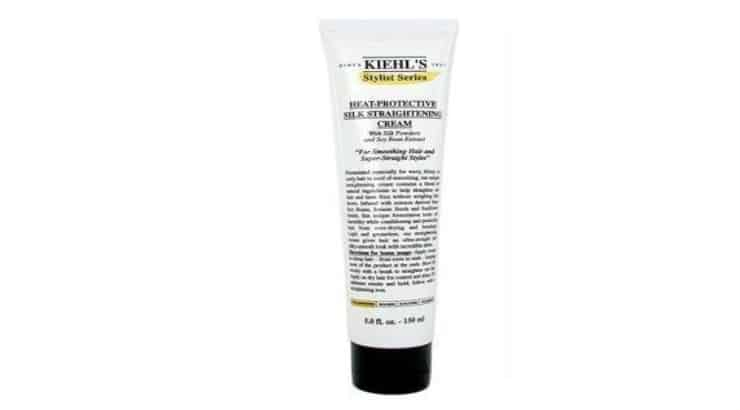 The Kiehl's Heat-Protective Silk Straightening Cream has soy beans, sesame seeds, and sunflower seeds at the base of its formula.
