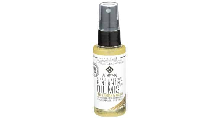 The Alaffia Finishing Oil Mist is a product that can be applied daily for sleek, smooth, straight hair.