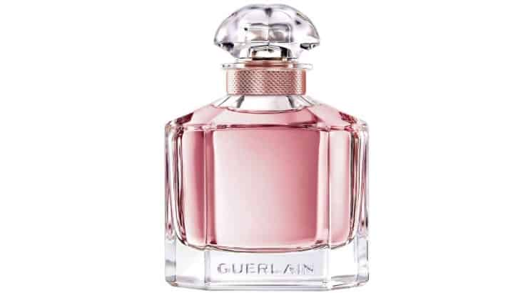 Mon Guerlain is a French fragrance with notes of jasmine, vanilla, sandalwood, and lavender.