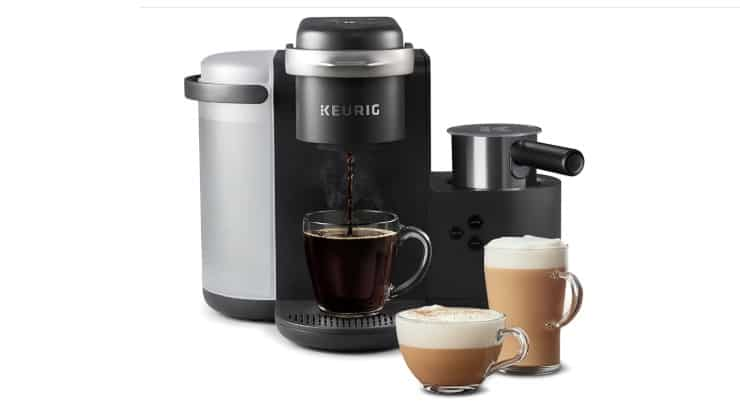 The Keurig K-Cafe Coffee Maker allows users to make lattes and cappuccinos in addition to coffee.